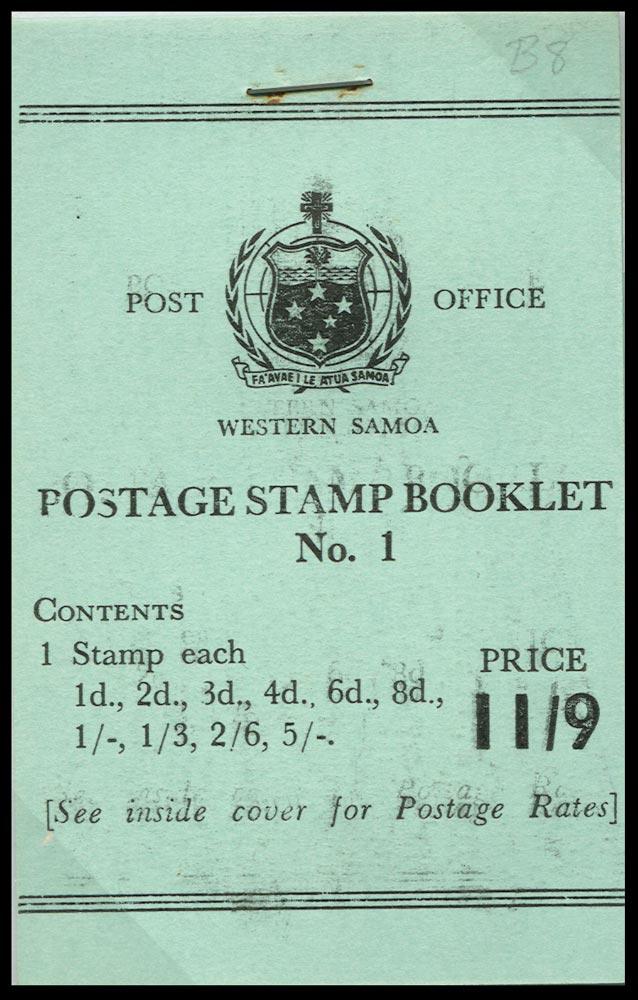 SAMOA 1962  SGSB8 Booklet
