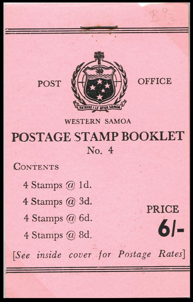 SAMOA 1962  SGSB9 Booklet