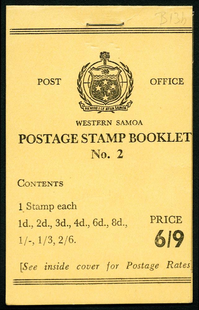 SAMOA 1965  SGSB13 Booklet