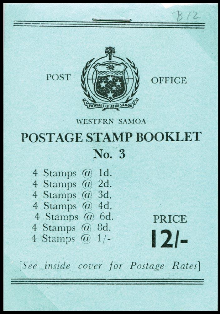 SAMOA 1964  SGSB12a Booklet