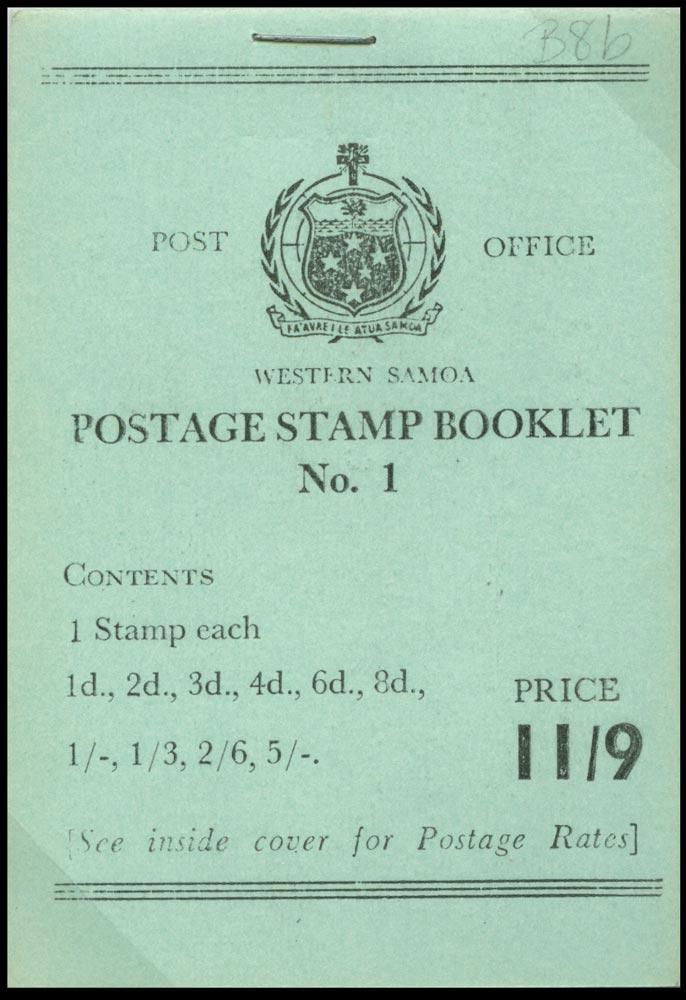 SAMOA 1965  SGSB14 Booklet