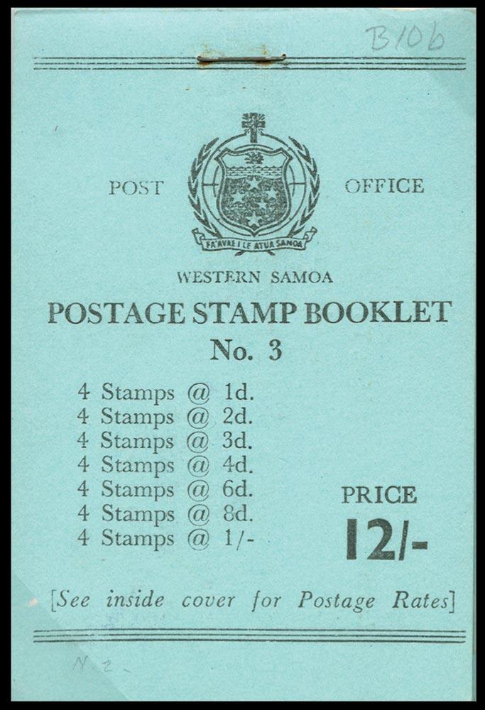 SAMOA 1962  SGSB10 Booklet