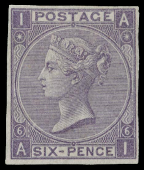 GB 1865  SG96var Pl.6 Mint