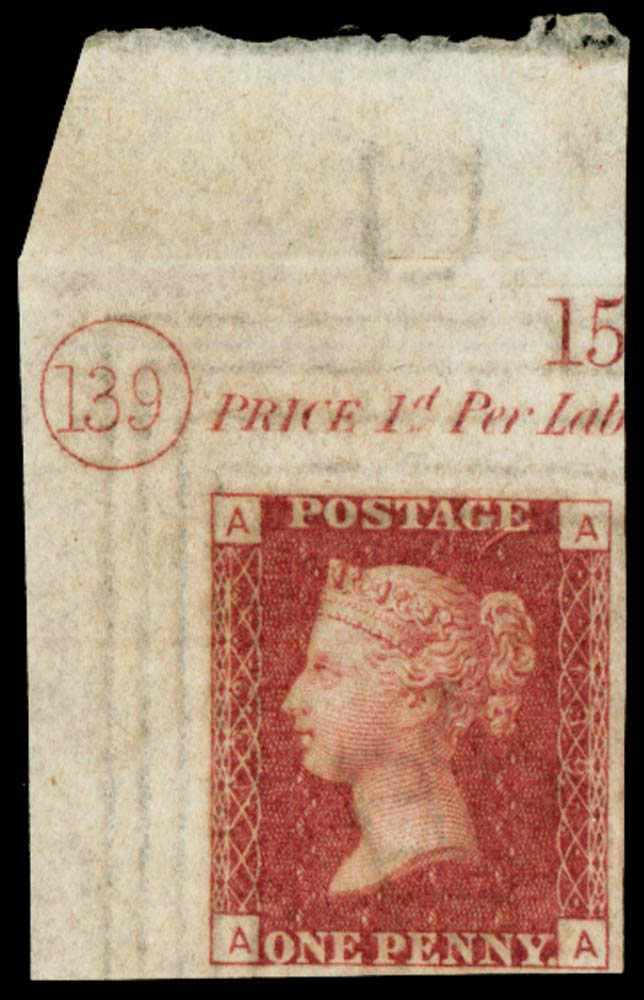 GB 1870  SG43var Pl.139 Mint