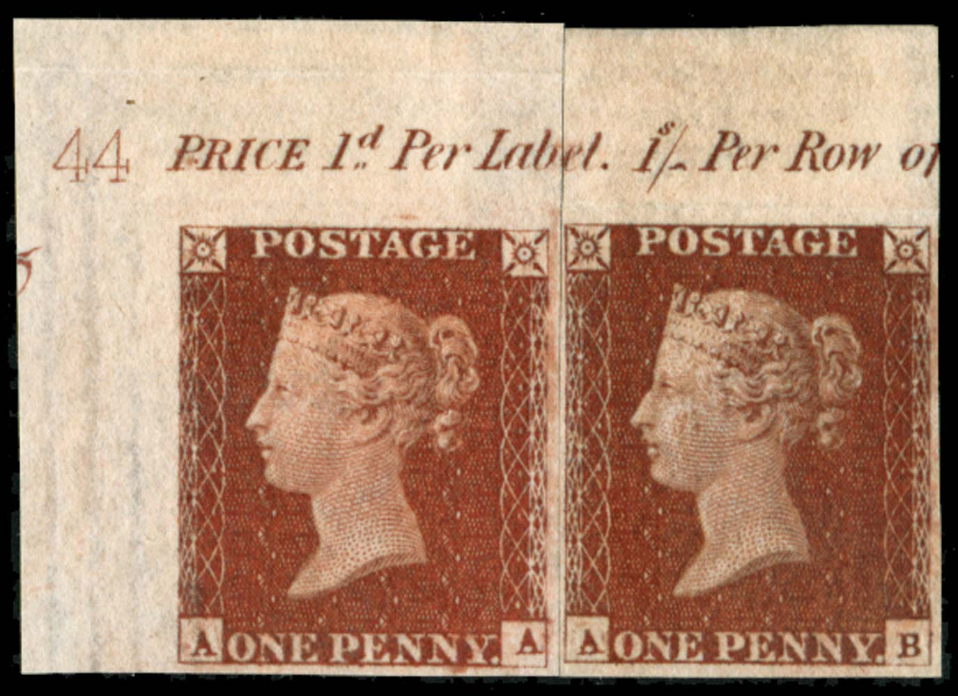 GB 1841  SG8var Pl.44 Mint