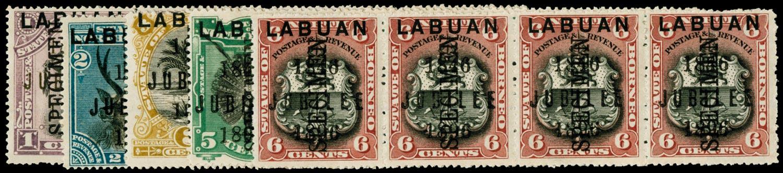 LABUAN 1896  SG83s/7s Specimen
