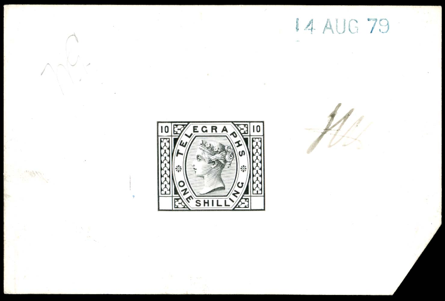 GB 1877  SGT8var Pl.10 Telegraph