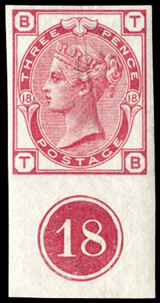 GB 1875  SG143var Pl.18 Mint Imprimatur.