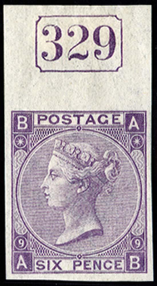 GB 1870  SG109var Pl.9 Mint