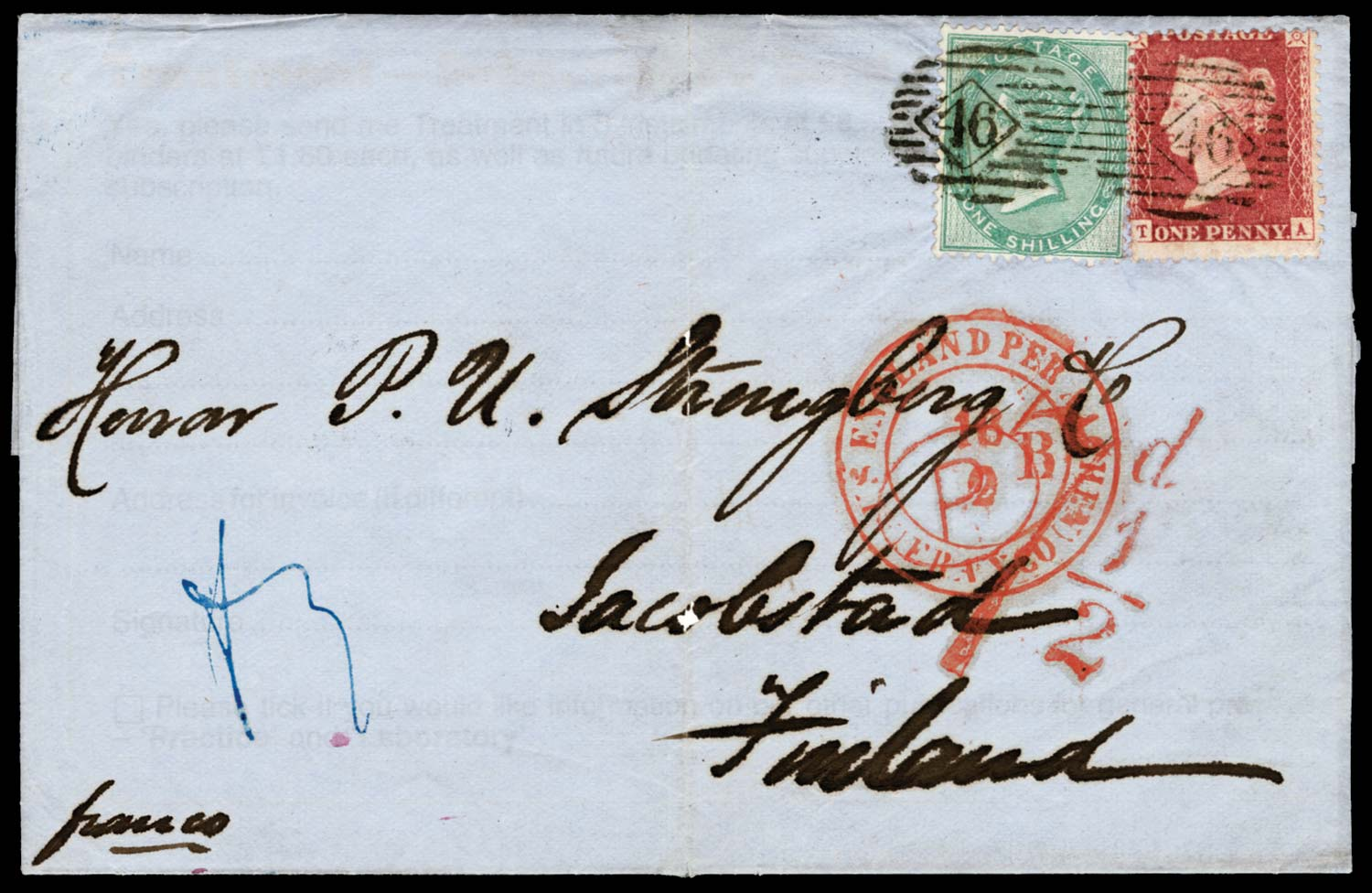 GB 1861  SG40, 72 Cover