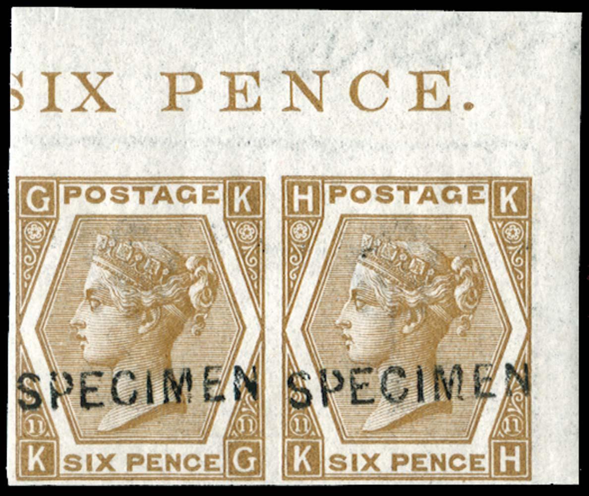 GB 1872  SG122var Pl.11 Specimen