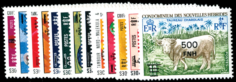 NEW HEBRIDES 1977  SGF234/46 Mint