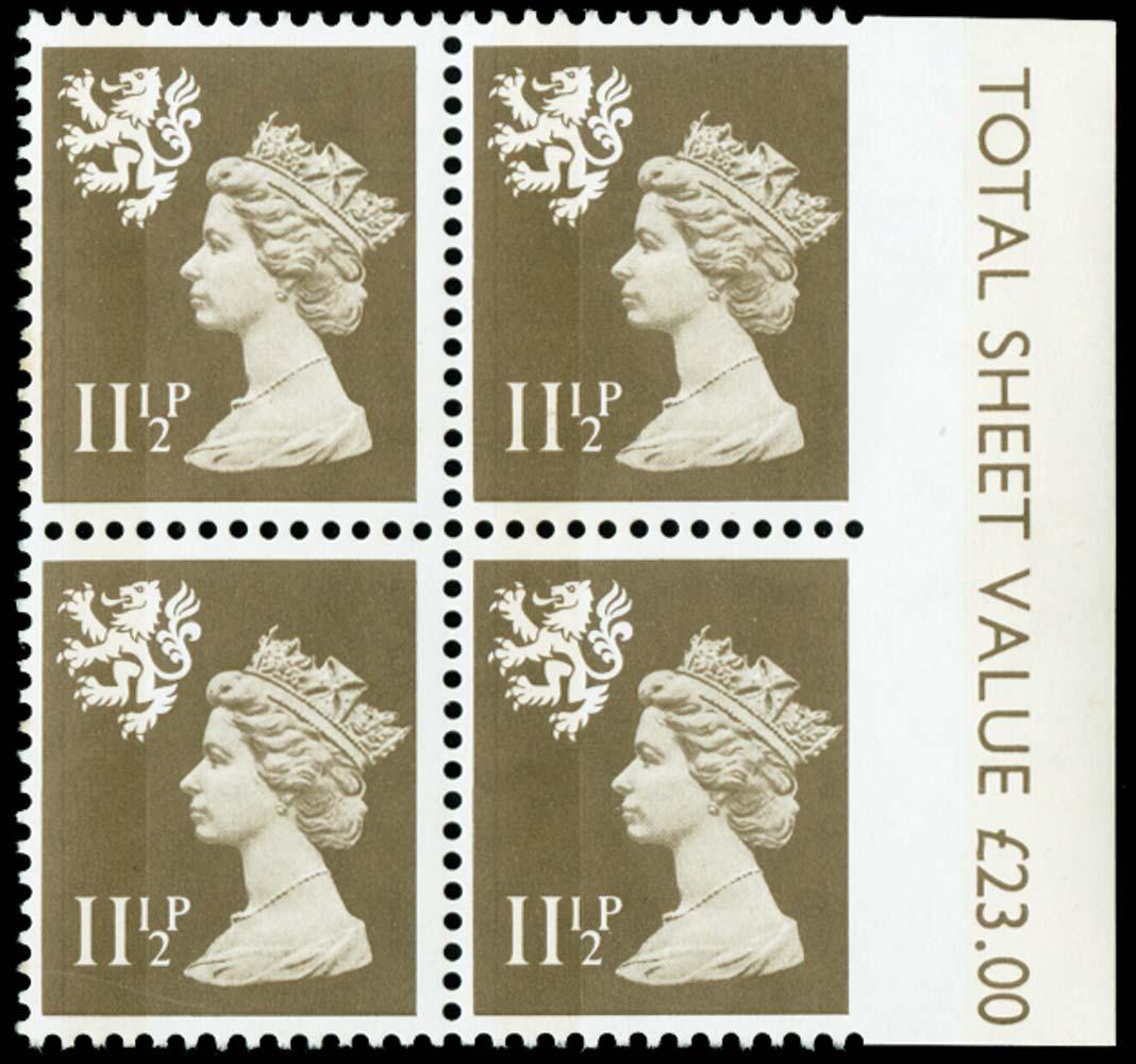 GB 1981  SGS36var Mint imperf to right margin