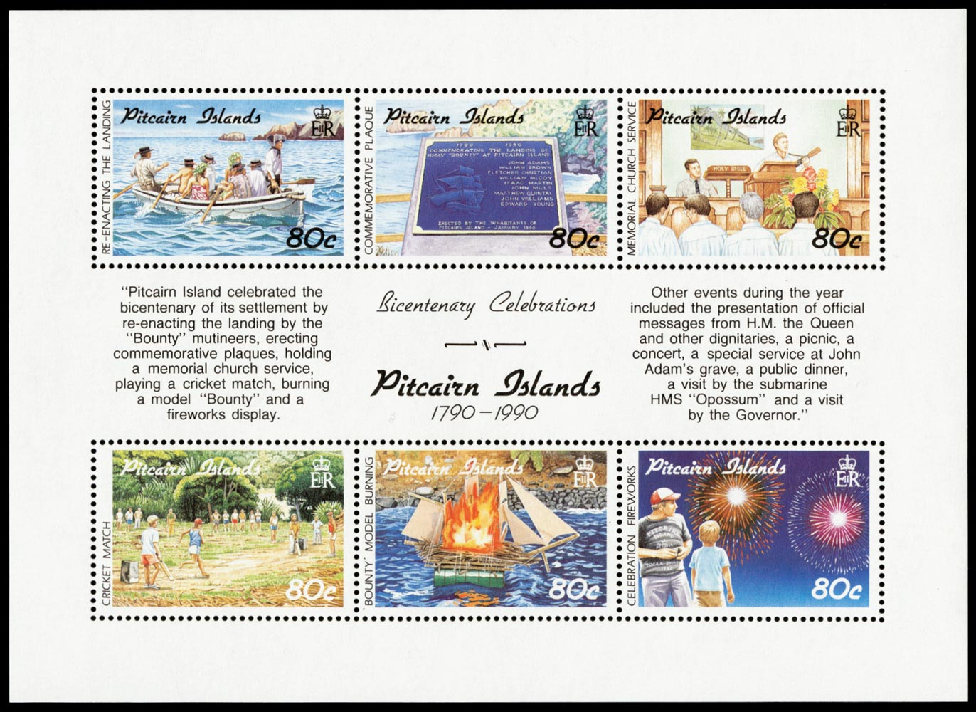 PITCAIRN ISLAND 1991  SG389/94 Mint