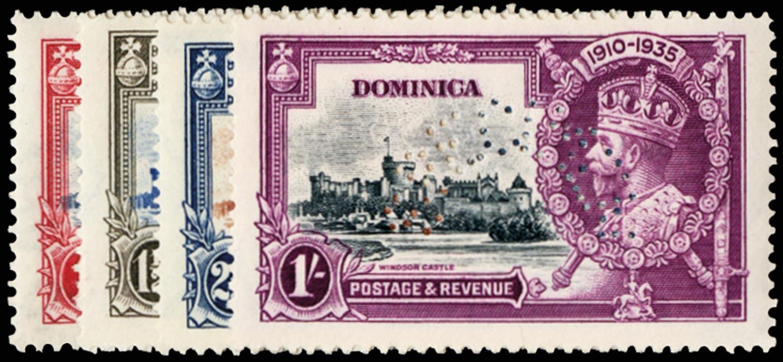 DOMINICA 1935  SG92s/5s Specimen