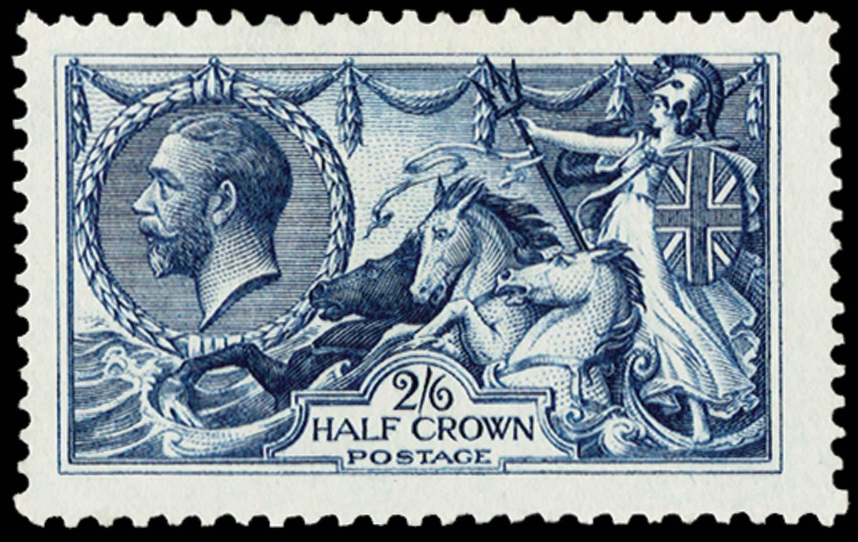 GB 1913  SG399var Colour Trial in indigo (Perforated)