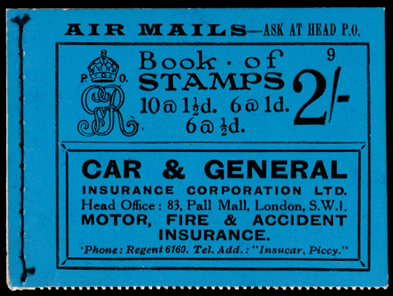 GB 1924  SGBB12 Booklet (Edition 9)
