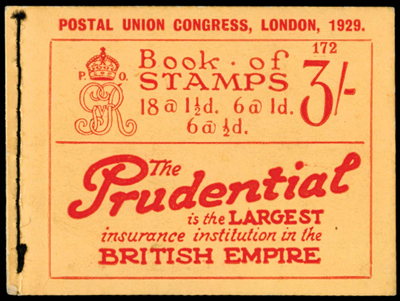 GB 1929  SGBB25 Booklet (Edition 172)