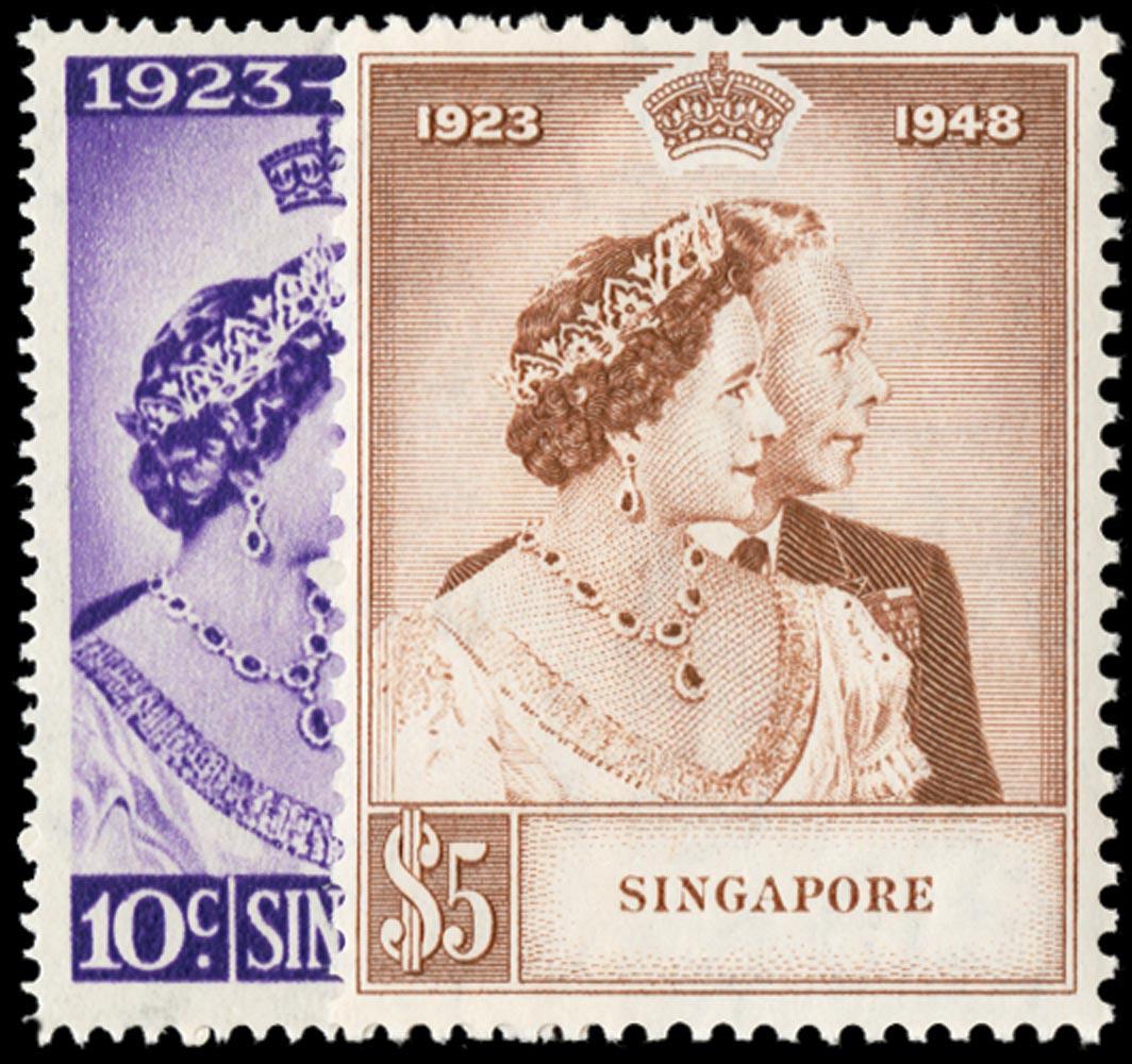 SINGAPORE 1948  SG31/2 Mint