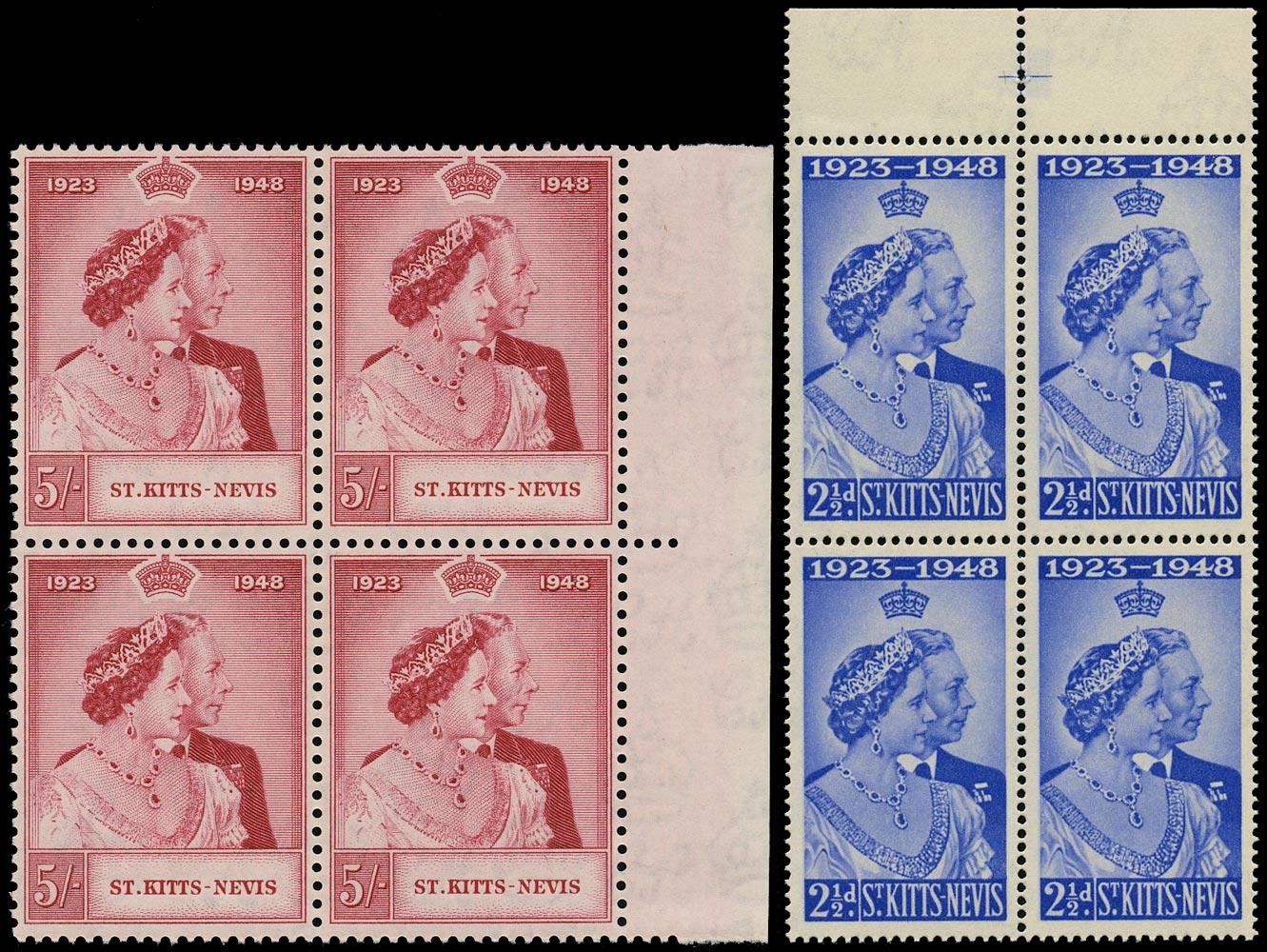 ST KITTS NEVIS 1948  SG80/1 Mint