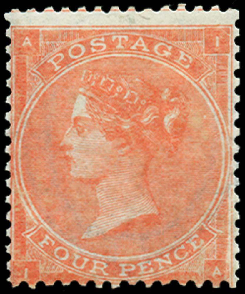 GB 1863  SG82 Pl.4 Mint