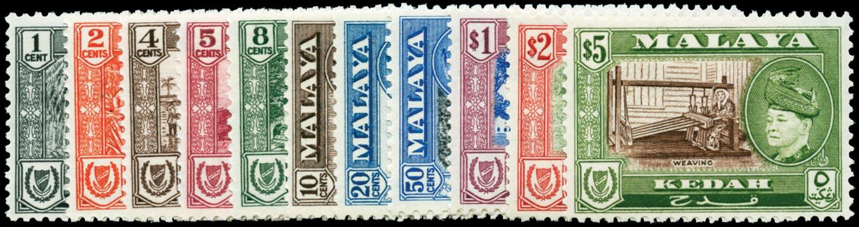 MALAYA - KEDAH 1957  SG92/102 Mint