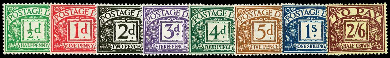 GB 1937-38  SGD27/34 Postage Due