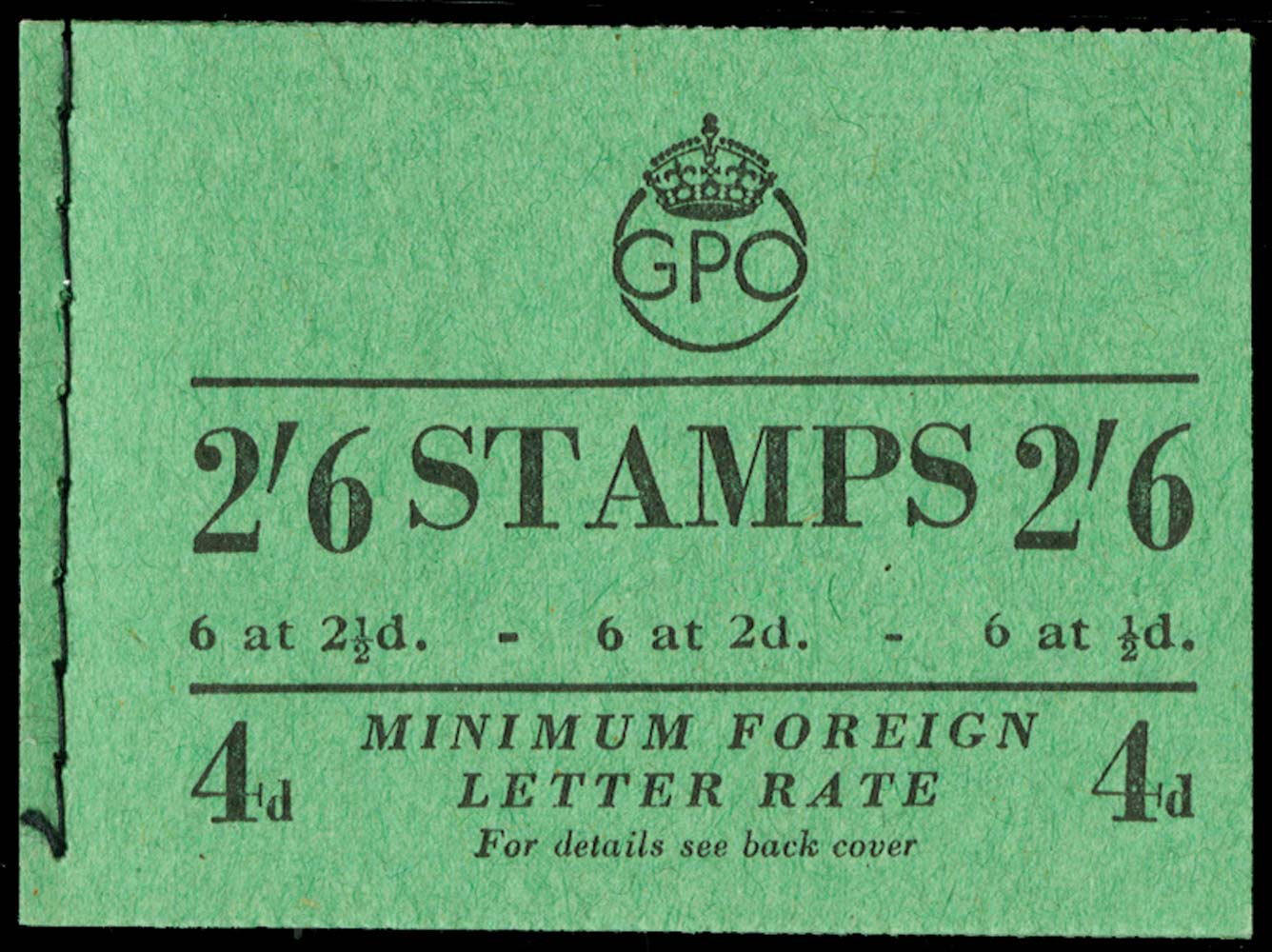 GB 1951  SGBD18 Booklet (Jan)