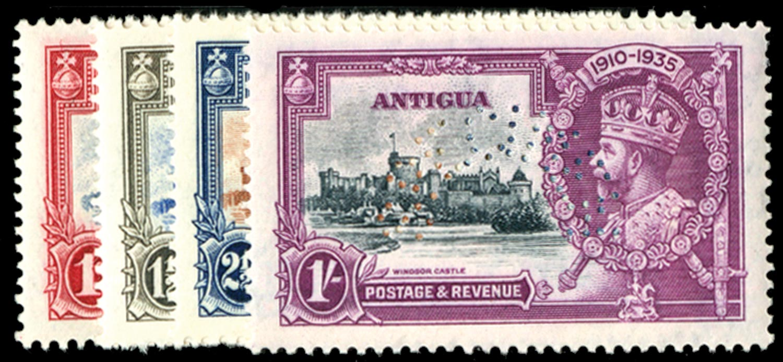 ANTIGUA 1935  SG91s/4s Specimen
