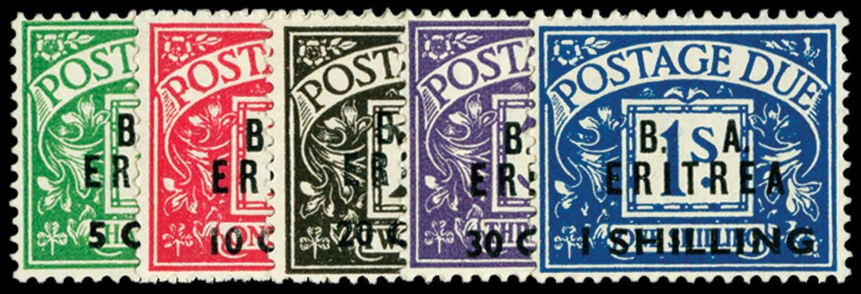 B.O.I.C. ERITREA 1950  SGED6/10 Postage Due