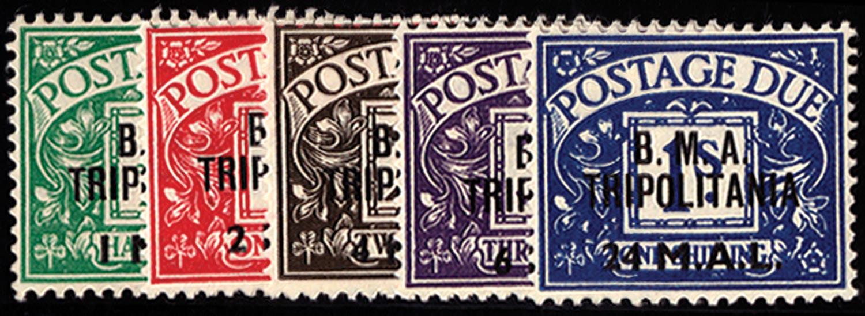 B.O.I.C.TRIPOLITANIA 1948  SGTD1/5 Postage Due