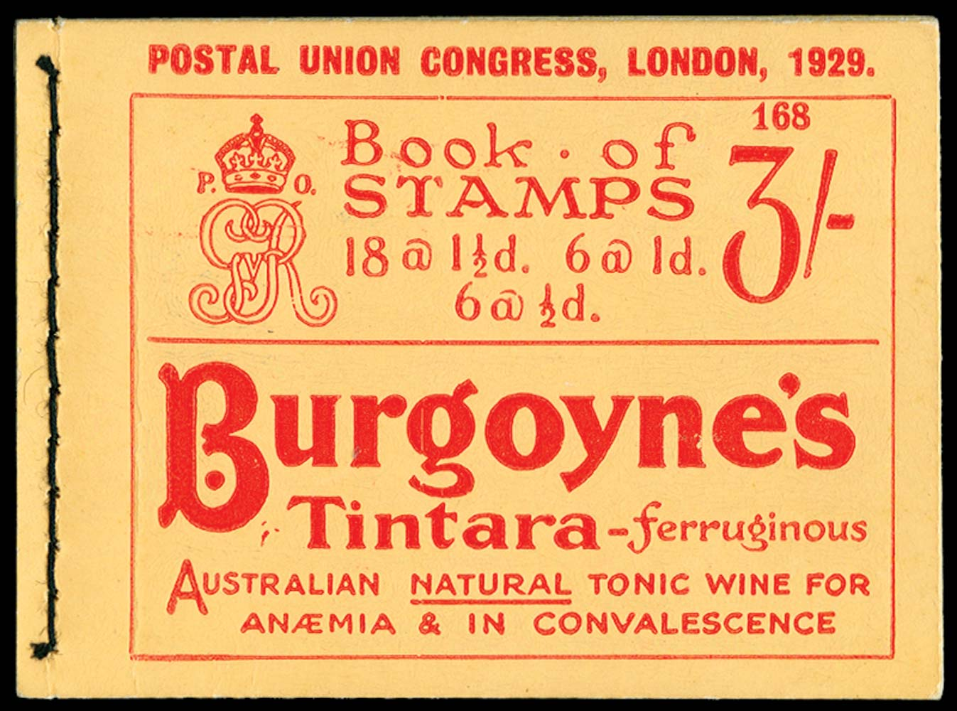 GB 1929  SGBB25 Booklet (Edition 168)