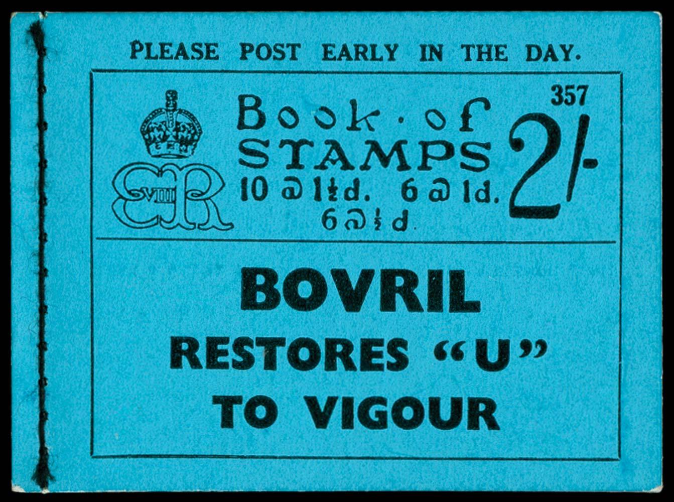 GB 1936  SGBC2 Booklet (Edition 357)