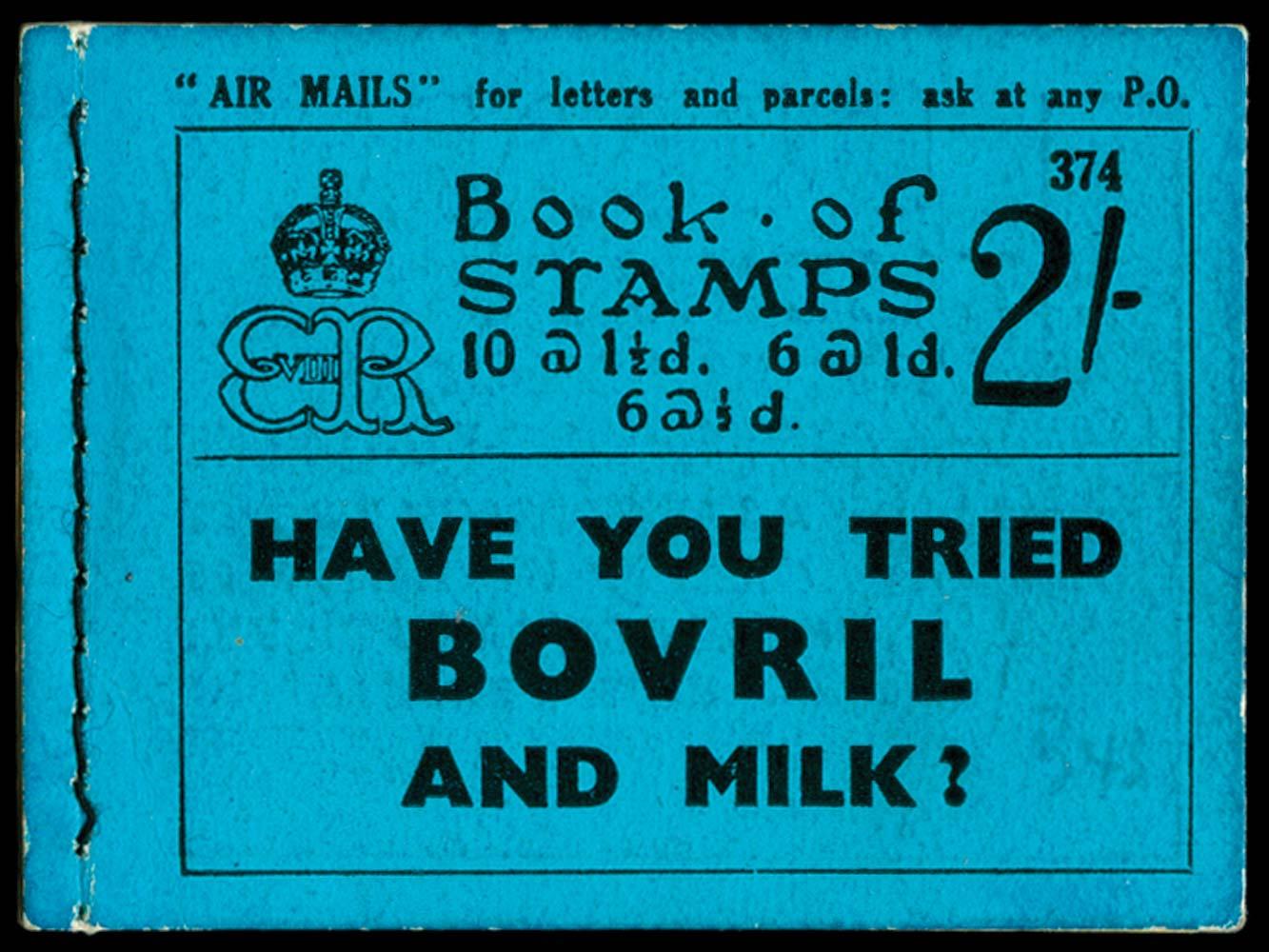 GB 1936  SGBC2 Booklet (Edition 374)