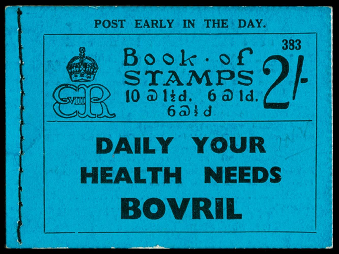GB 1936  SGBC2 Booklet (Edition 383)