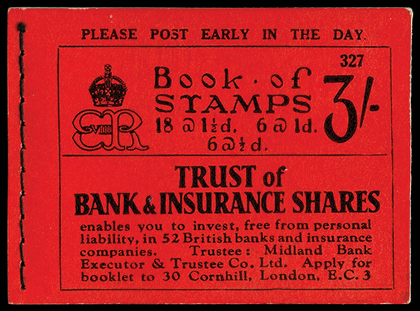 GB 1936  SGBC3 Booklet (Edition 327)