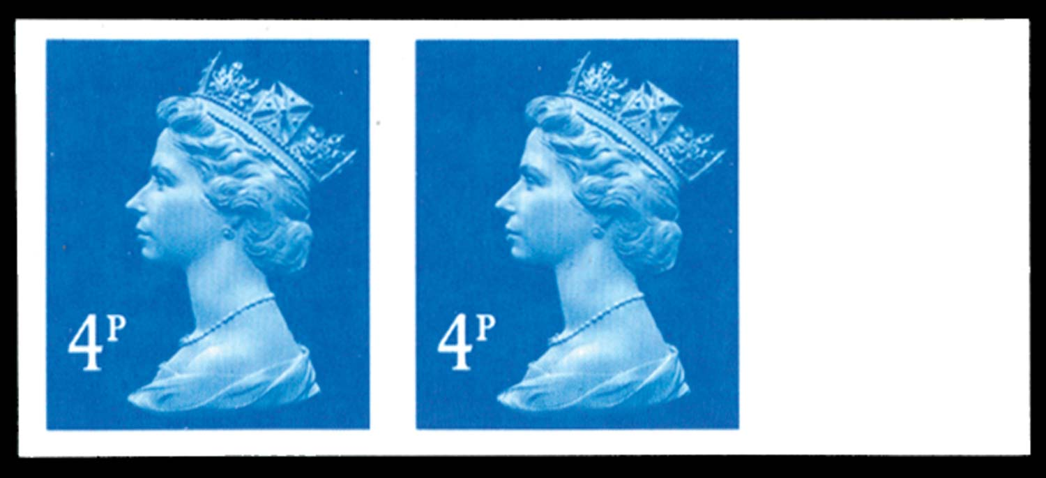 GB 1997  SGY1669a Mint Imperforate pair.