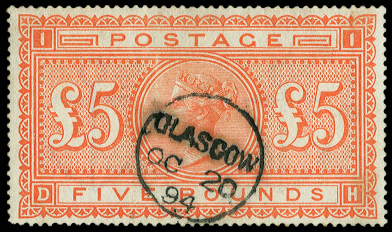 GB 1882  SG137 Pl.1 Used