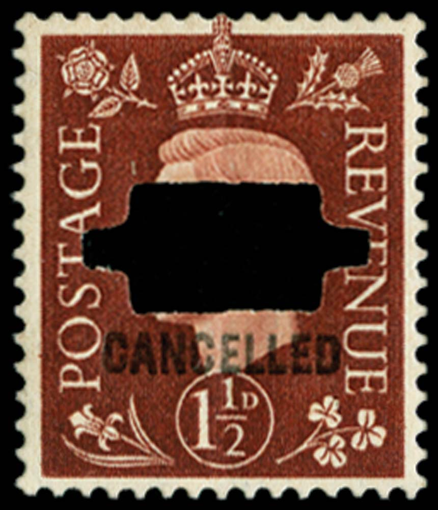 GB 1937  SG464var Specimen (CANCELLED type 33p)