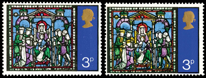 GB 1971  SG895c Mint lemon omitted