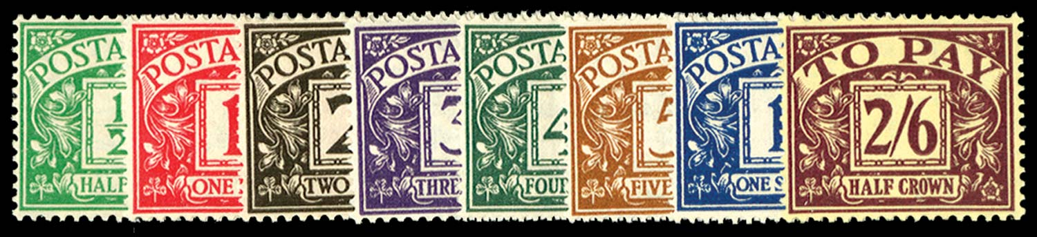 GB 1937-38  SGD27/34 Postage Due