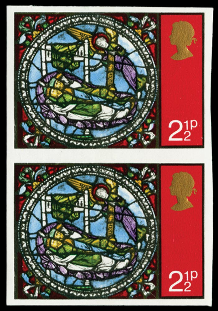 GB 1971  SG894a Mint imperforate vertical pair