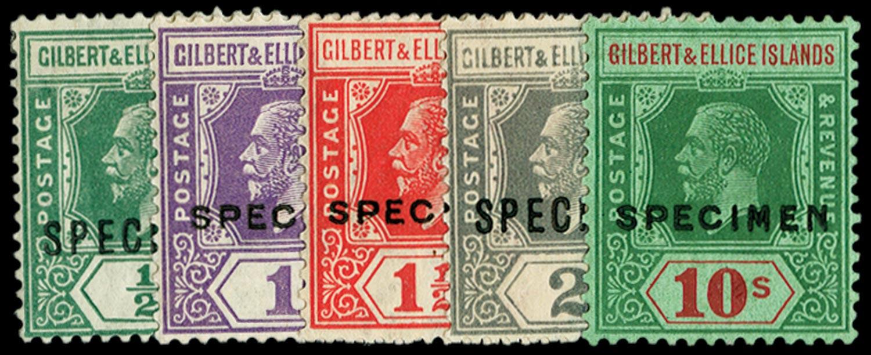 GILBERT & ELLICE IS 1922  SG27s/35s Specimen