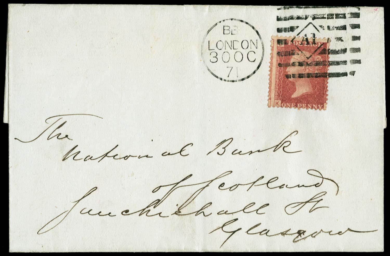 GB 1871  SG43 Pl.141 Cover