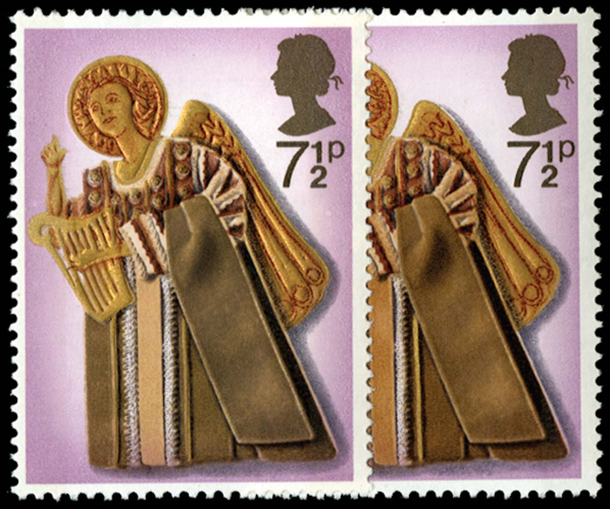 GB 1972  SG915a Mint ochre omitted