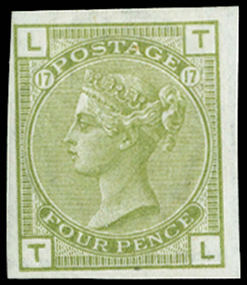 GB 1877  SG153var Pl.17 Mint
