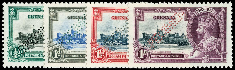 GRENADA 1935  SG145s/48s Specimen