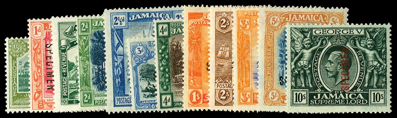 JAMAICA 1919  SG78s/89s Specimen