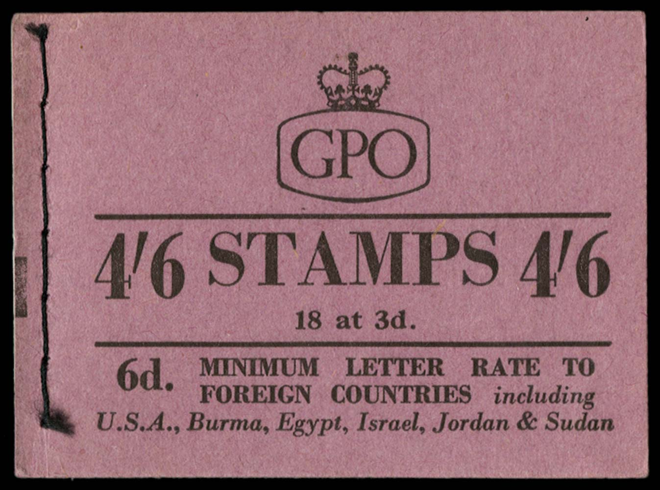 GB 1958  SGL7 Booklet