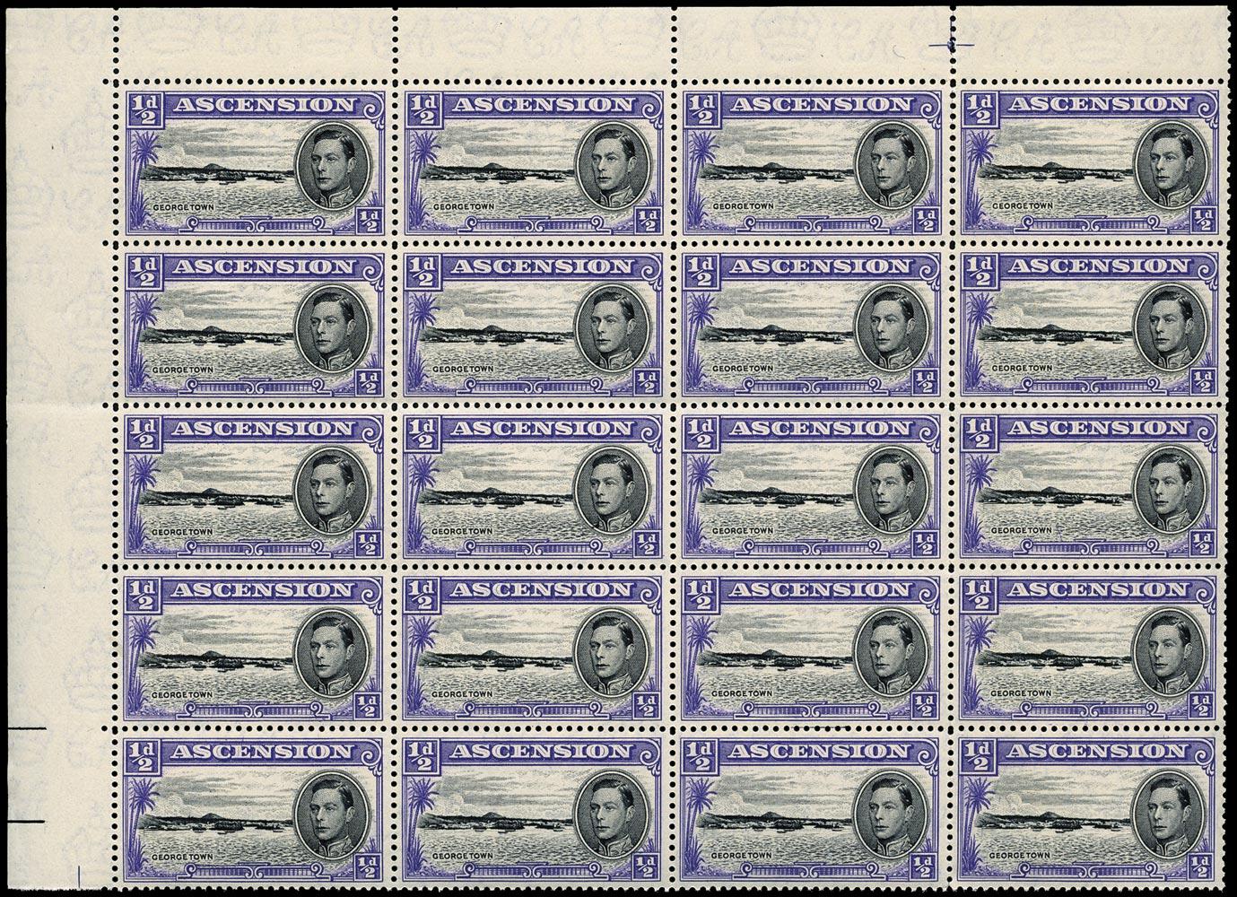 ASCENSION 1938  SG38b/ba/bb Mint